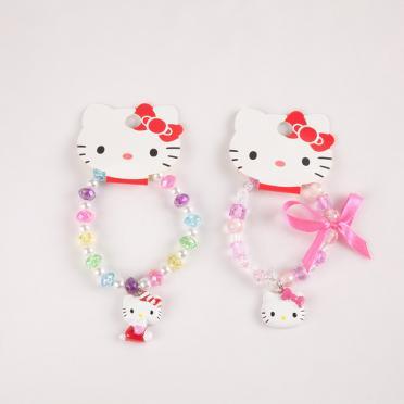 Bratara cu margele  Hello Kitty