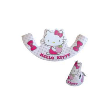 Coif hartie petrecere  6buc Hello Kitty
